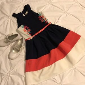 Adorable girl's dress, with belt size 8